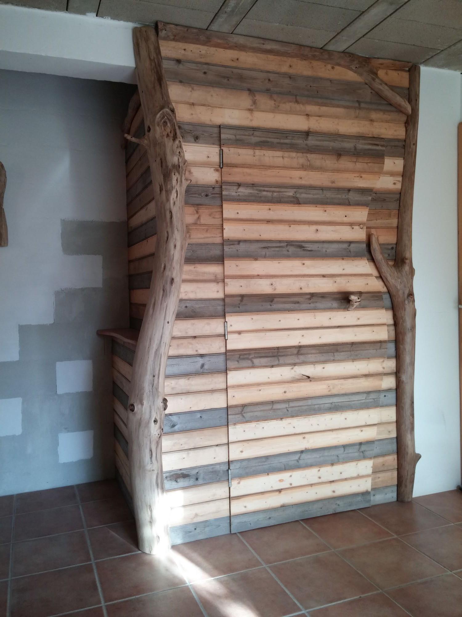 placard bois flotté