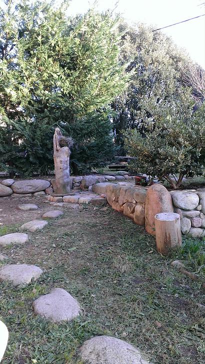 Jardin bois flotté
