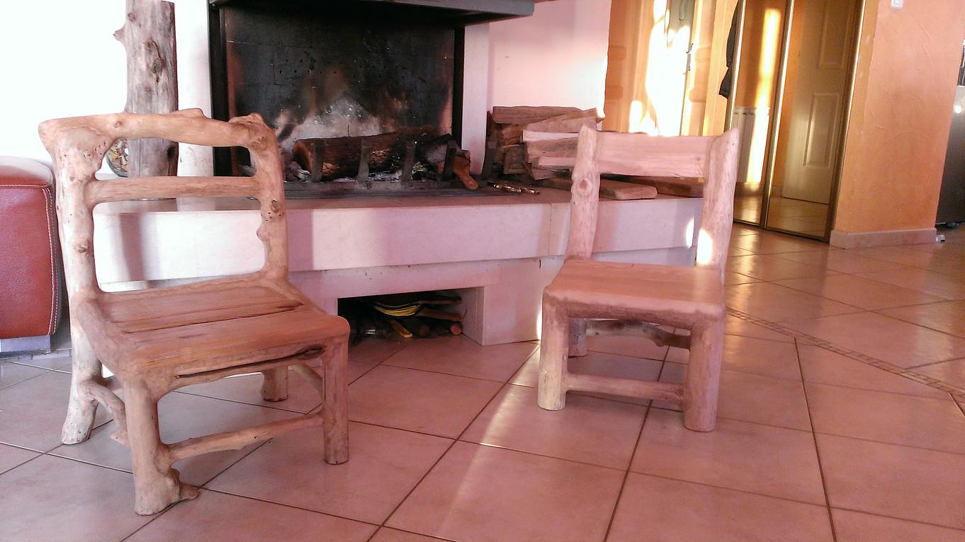 Duo de petites chaises