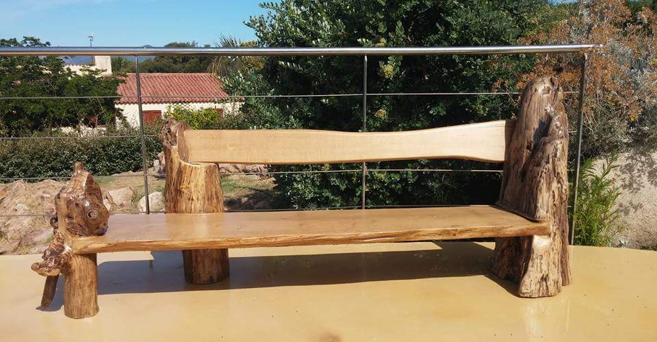 Acqua lenghju des meubles en bois flott sur mesure for Meuble en bois flotte