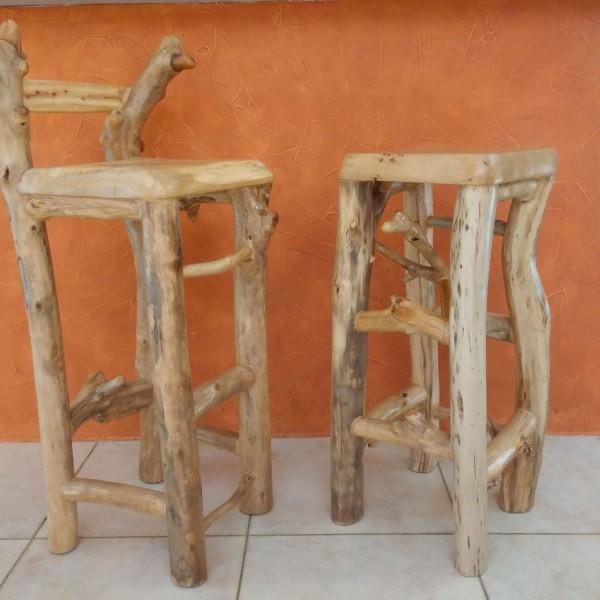 tabouret bois flotté