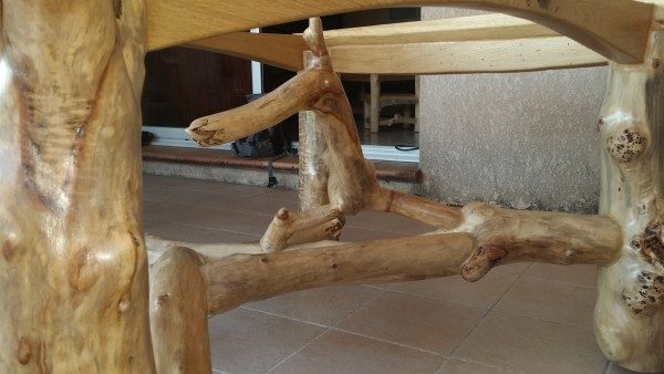 détail meuble bois flotté